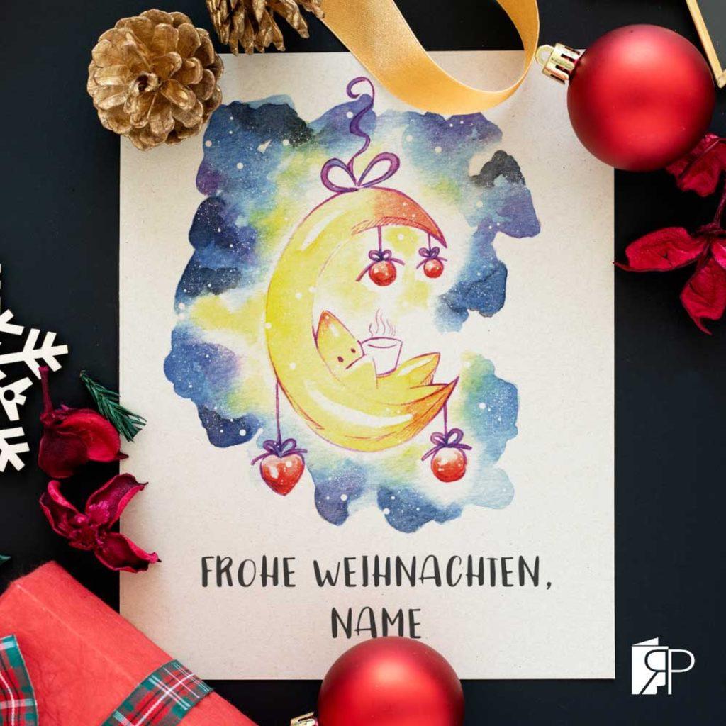 weihnachtskarte-stern-auf-dem-mond-von-ruhrpeterie